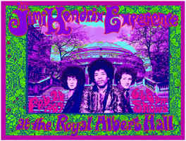 Jimi Hendrix Royal Albert Hall concert poster