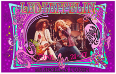 Led Zeppelin Los Angeles Forum poster